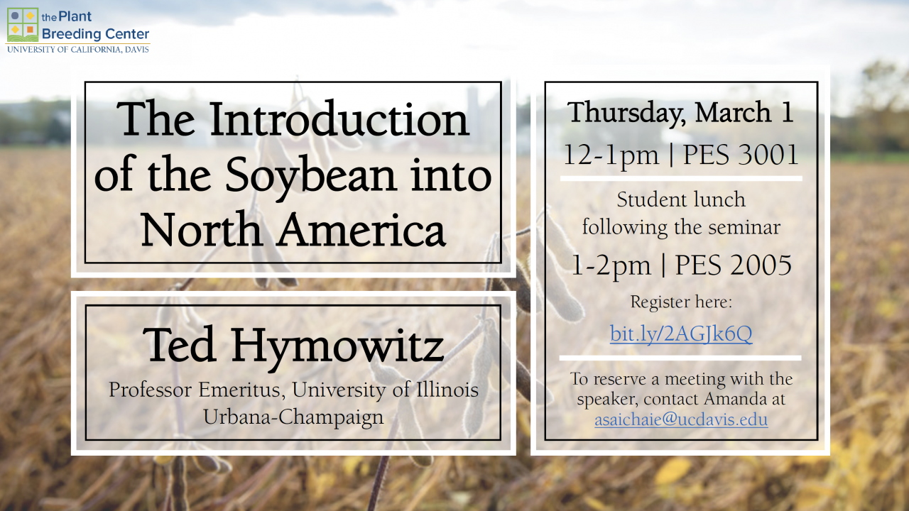 Seminar: The Introduction of the Soybean into North America